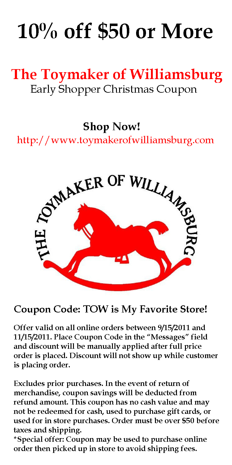 Colonial williamsburg discount coupons