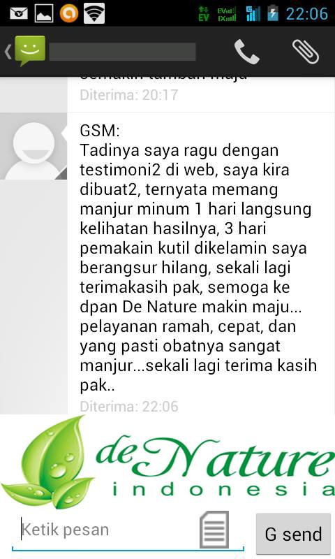 Testimoni di atas adalah bukti SMS real dari penderita kutil kelamin yang sudah sembuh, bukan hasil rekayasa kami