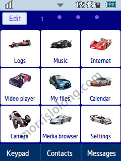 Need for Speed Sports Game Samsung Corby 2 Theme Menu