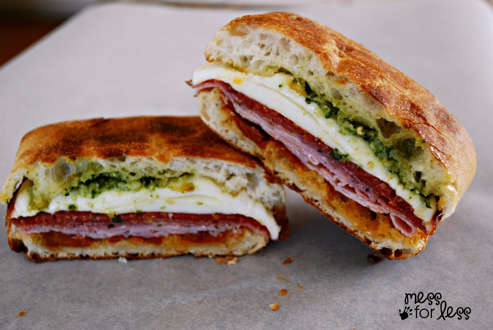 Toasted Italian Sandwich - The pesto and sun-dried tomatoes are a ...