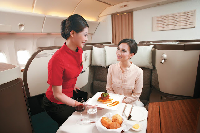 The current Cathay Pacific First Class cabin
