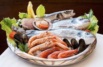pescado blanco y más marisco