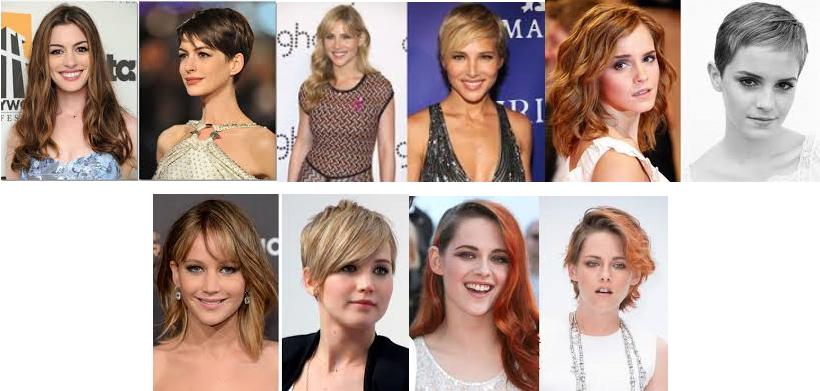celebrities con cambio de look