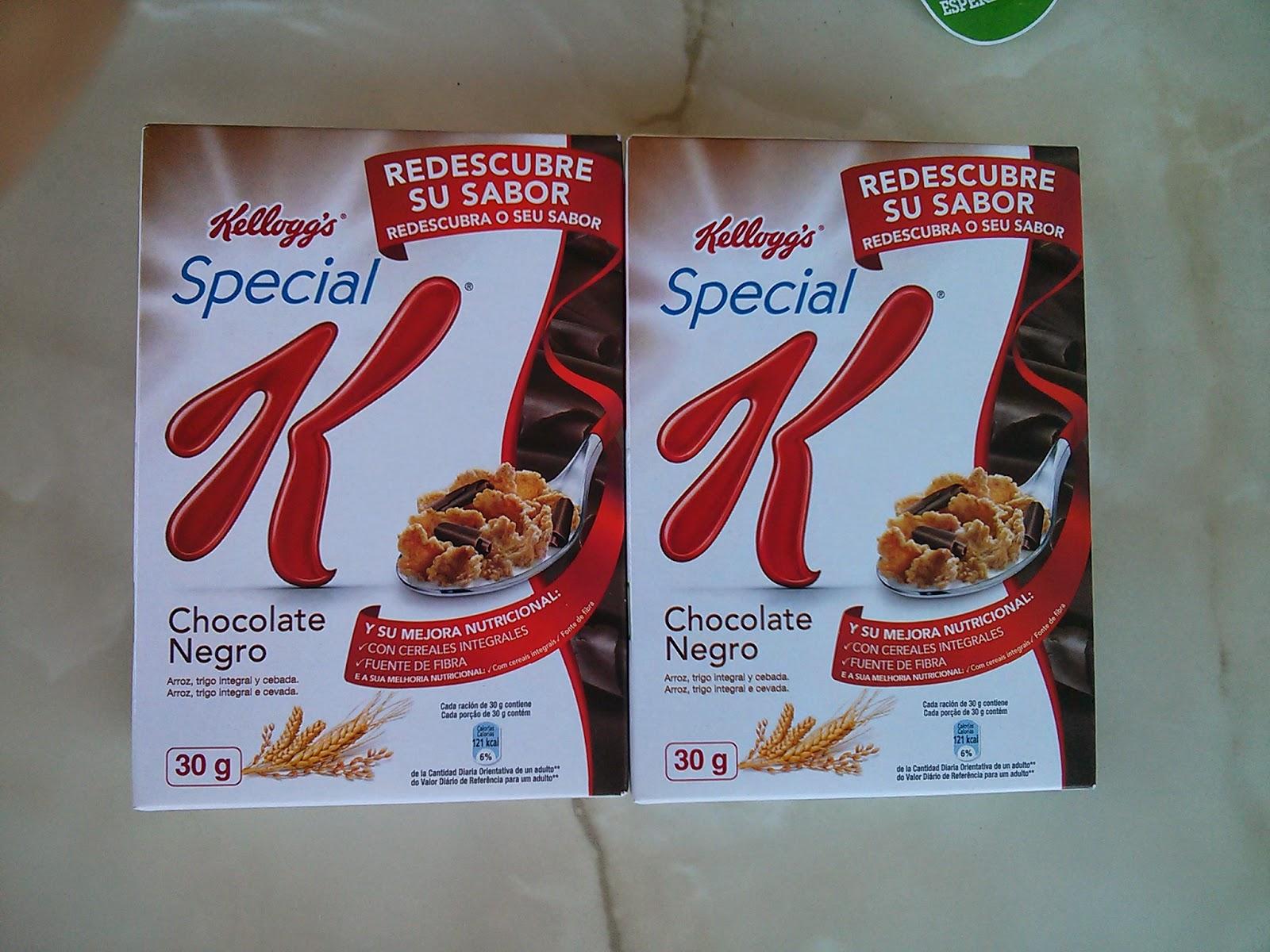 cereales Special K de chocolate negro