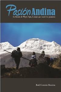 Portada de la novela, escrita por Raúl Germán, Pasión Andina