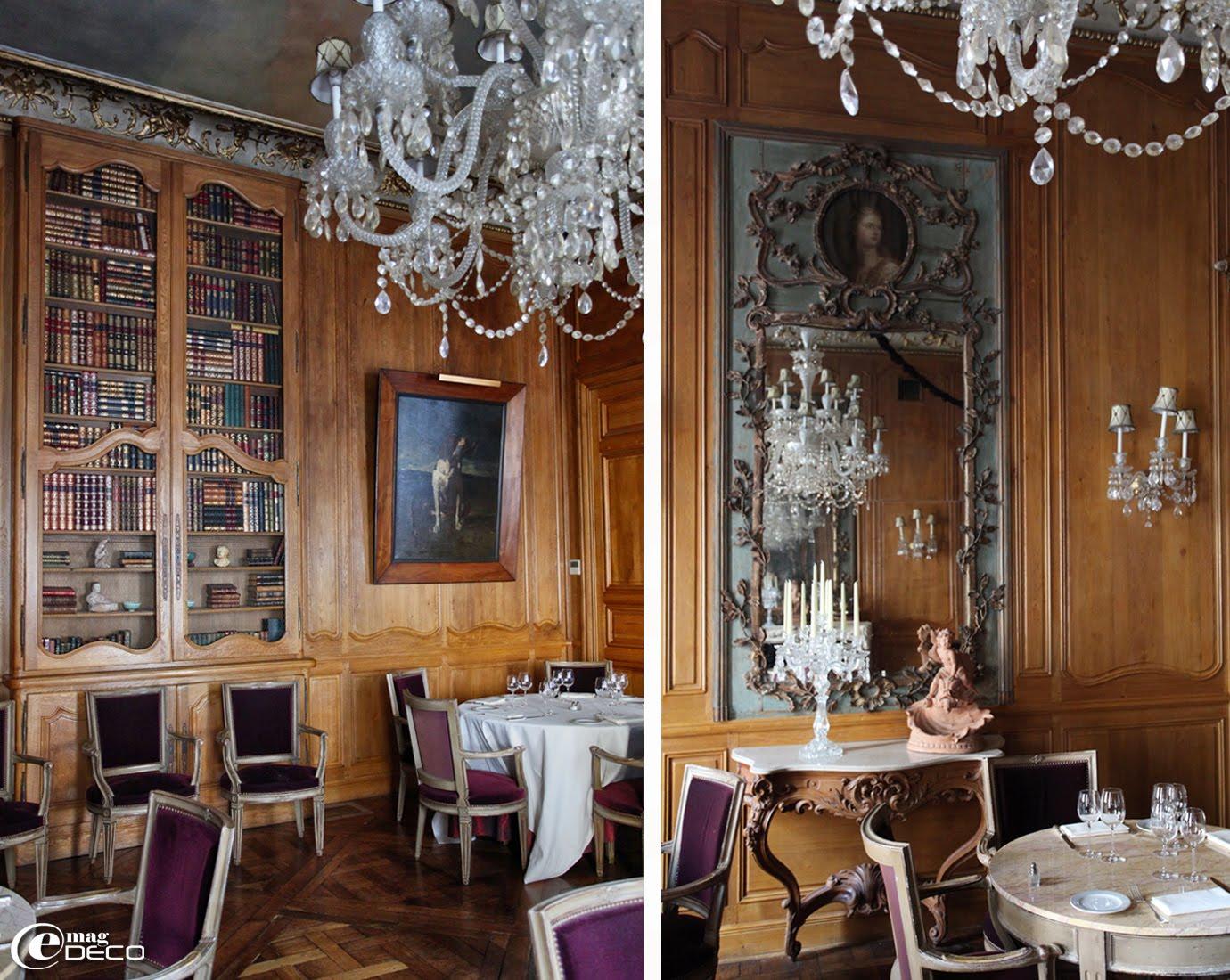 Le salon La Fayette dans le restaurant 1728 à Paris