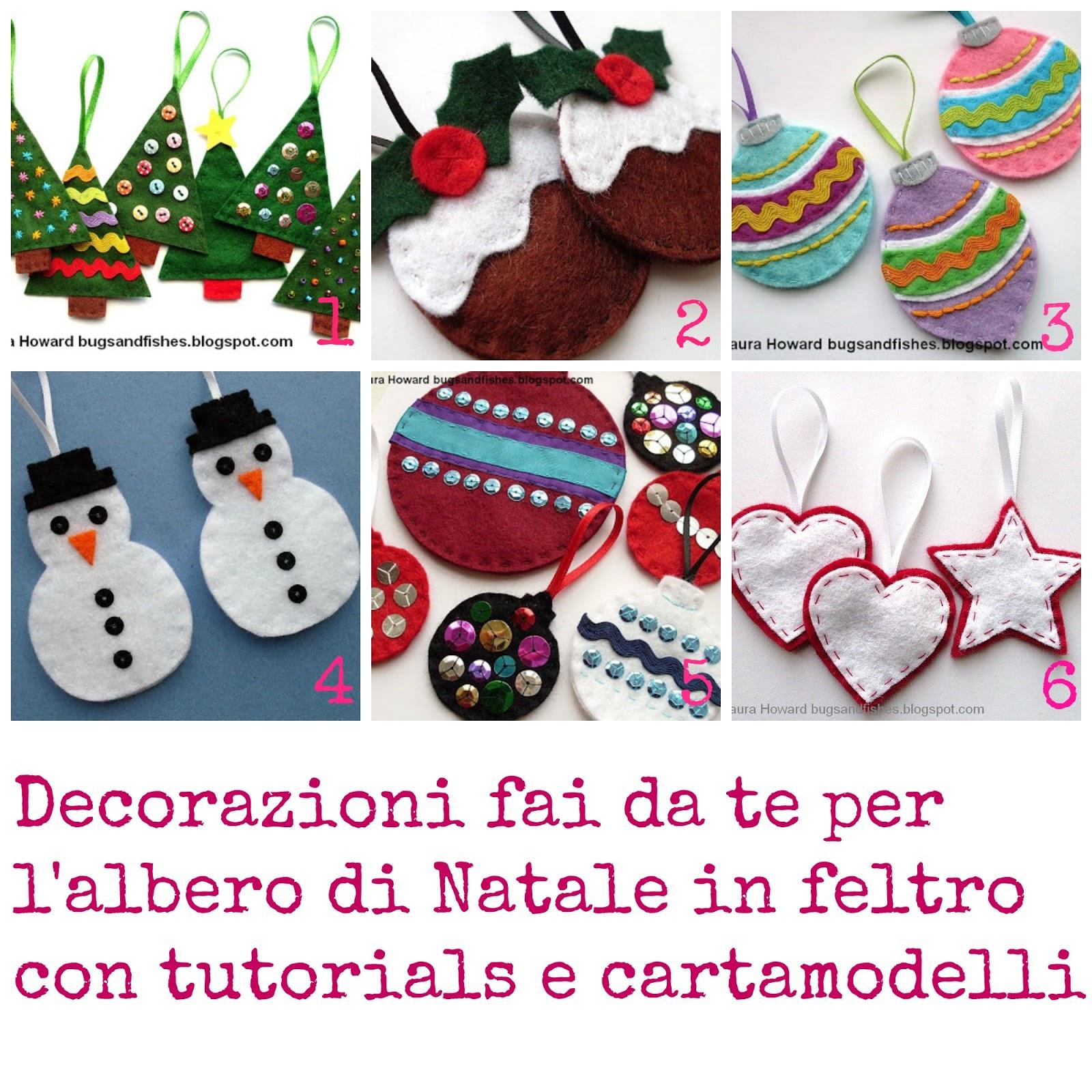 Cartamodelli Decorazioni Natalizie In Feltro.Decorazioni Fai Da Te Per L Albero Di Natale In Feltro Donneinpink
