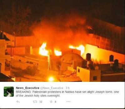 buongiornolink - La tomba di Giuseppe in fiamme in Cisgiordania