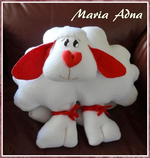 Ovelha em soft,  ovelha em tecido, boneco em soft, boneco em tecido,