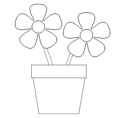 Get Flower Pot Coloring Page And Make This Wallpaper For Your Desktop Tablet Or Smartphone Device Best Results You Can Choose Original Size To Be