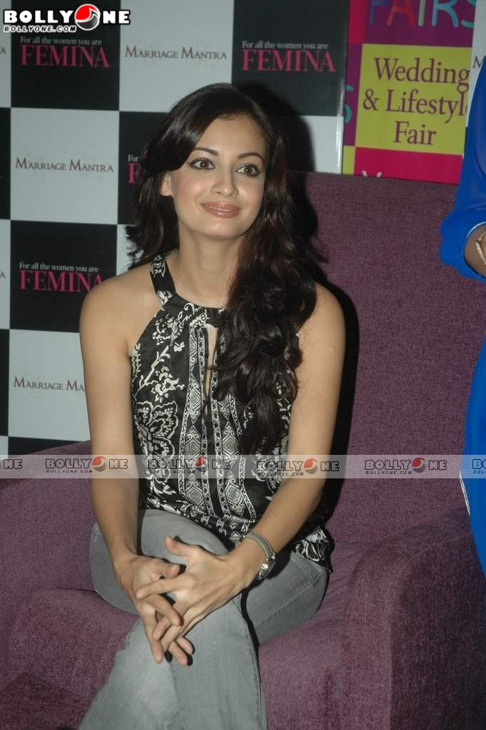 Gorgeous Dia Mirza at Femina Fair