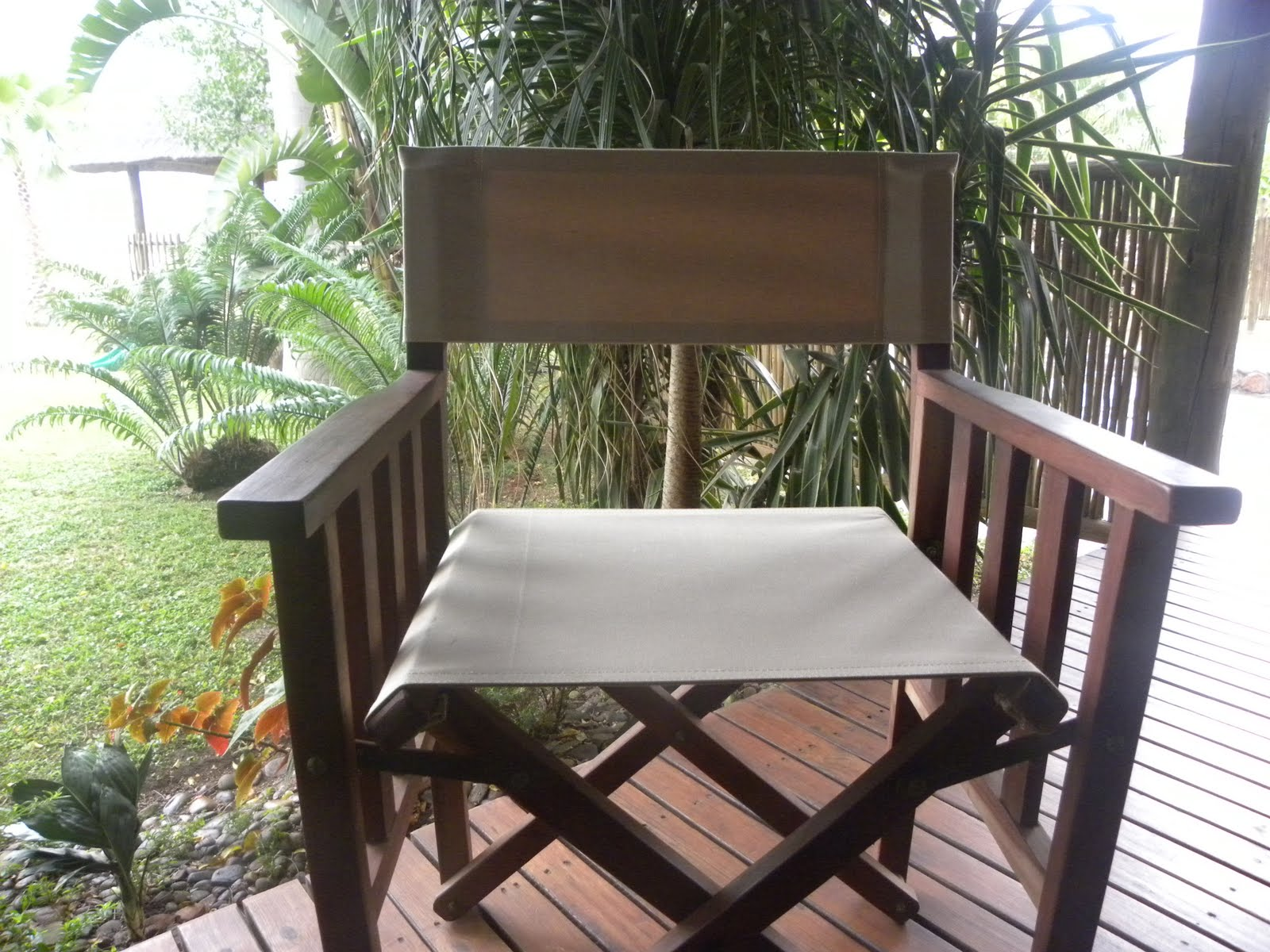 Cool with Canvas Chair & cushion covers