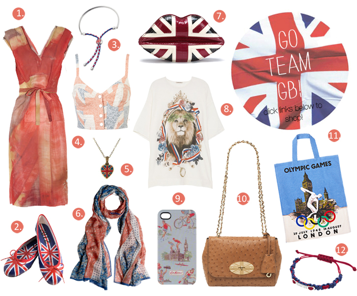 Olympic Games London 2012 fashion, Team GB fashion, Union Jack Olympic Fashion, Opening Ceremony Outfit, Team Great Britain London 2012 Fashion, Vivienne Westwood London 2012 dress, Lulu Guiness Union Jack Lips, Liberty London Union Jack