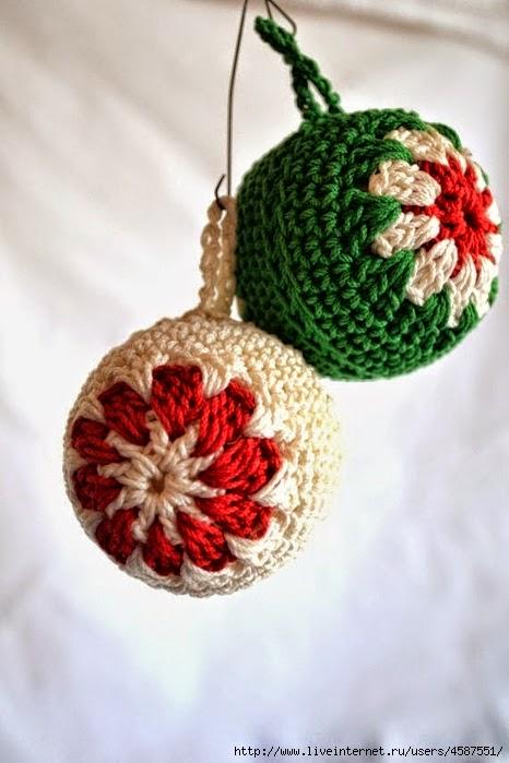 DIY esferas de árbol de navidad al crochet