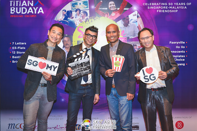 (L-R) Yeo Whee Jim (Director MCCY), Royston Tan (Director of 7 Letters), SanifOlek (Director of SayangDisayang, and David (CultureLink)