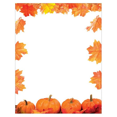 Pumpkin Patch Fall Leaves Thanksgiving Autumn Inkjet Paper