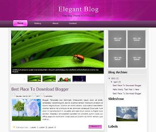 Elegant Blog Blogger Template