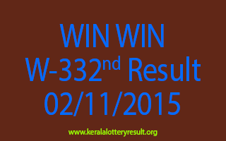 WIN WIN W 332 Lottery Result 2-11-2015