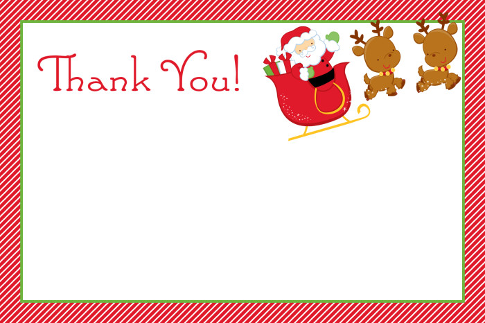 christmas thank you cards slim image