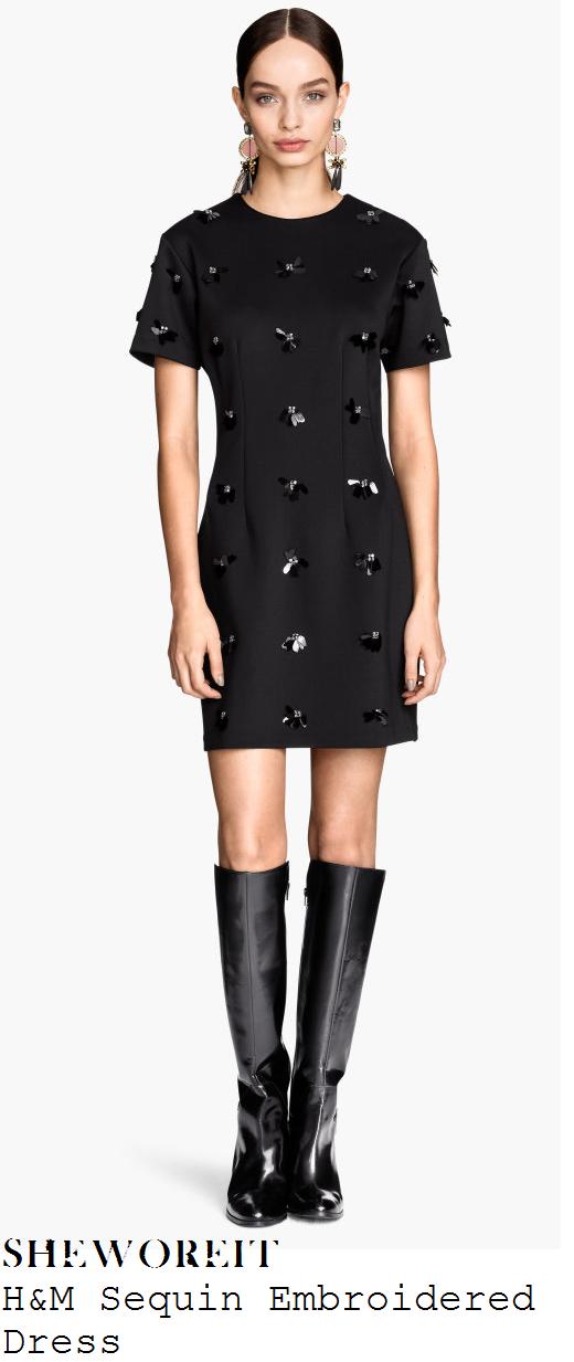 lauren-pope-black-sequin-and-crystal-jewel-embellished-short-sleeve-mini-dress-spud-u-like-lakeside
