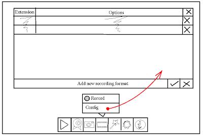 Recording formats setup