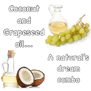 Grapeseed and coconut oil for natural hair