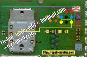 Nokia 1661 Insert Sim Card Ways Problem jumper solution