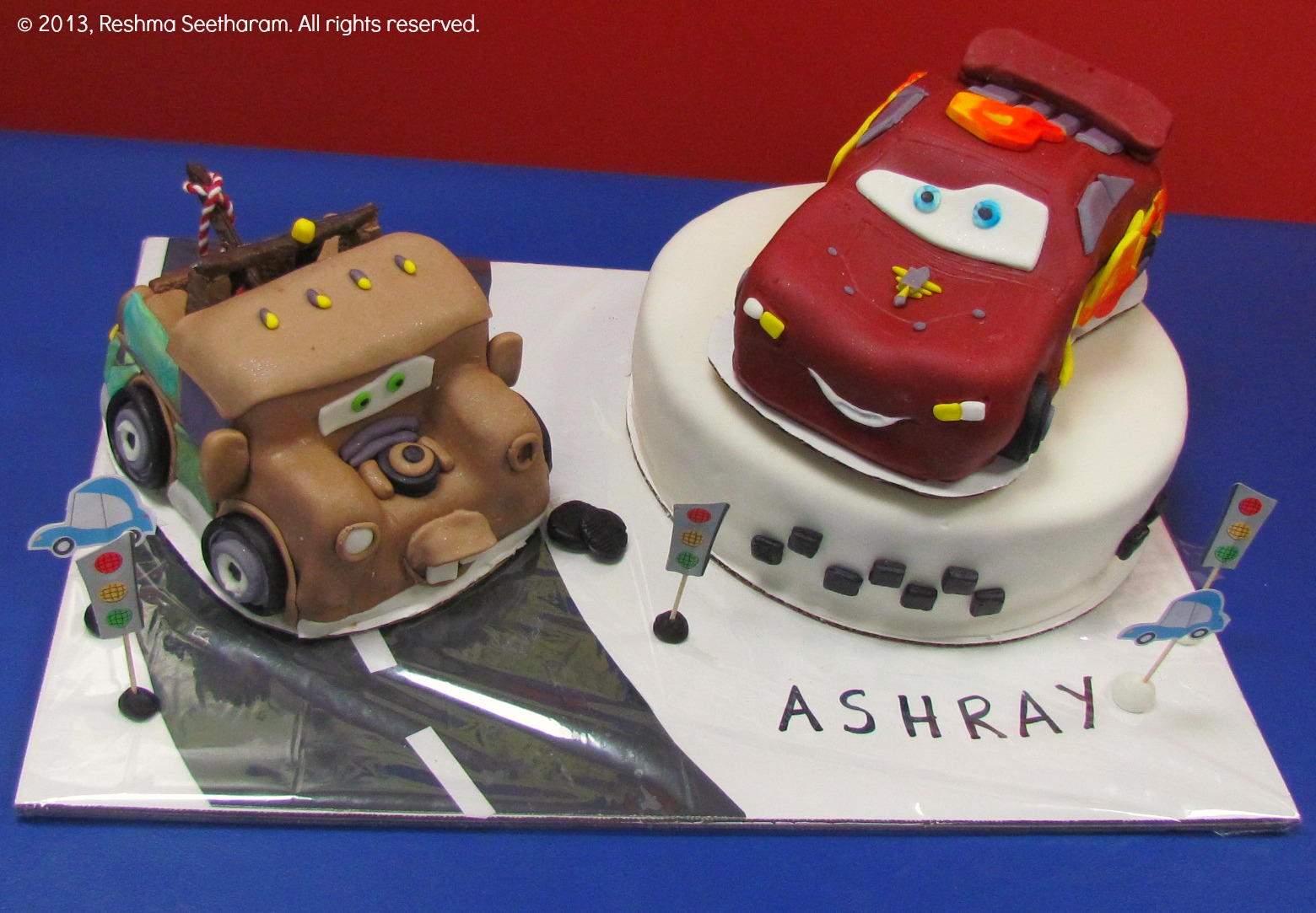 My Foodarama By Reshma Seetharam McQueen And Tow Mater Cake