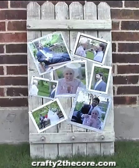 ~Wood Fence Panel Photo Display~ PHOTOS for GRADUATION, BIRTHDAY PARTY, FAMILY REUNION, SEATING CHARTS FOR WEDDING, etc.