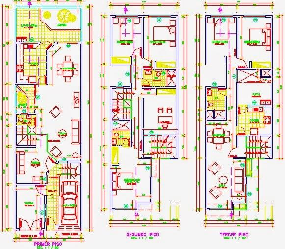 Descargar planos en autocad dwg juego de planos de for Planos de casas 6x20