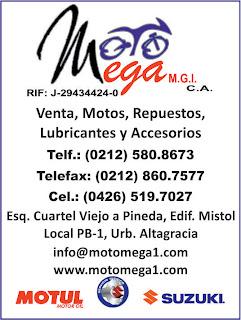 MOTO MEGA MGI, C.A. en Paginas Amarillas tu guia Comercial