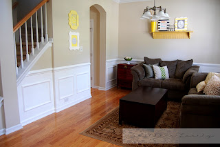DIY Wainscoting from Southern Lovely