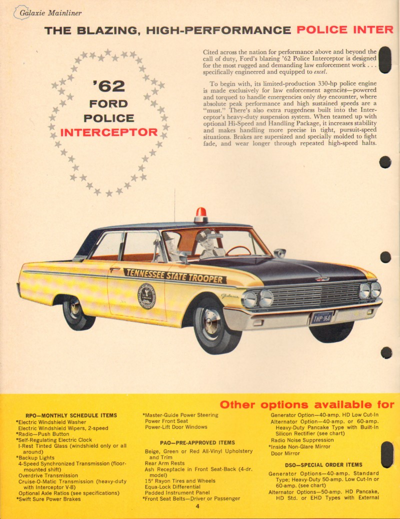 History Of Police Cars Facts And Trivia About Cop Thrillist 1970 Ford Car Blogspot