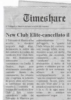 New Club Elite - nullo il contratto di acquisto