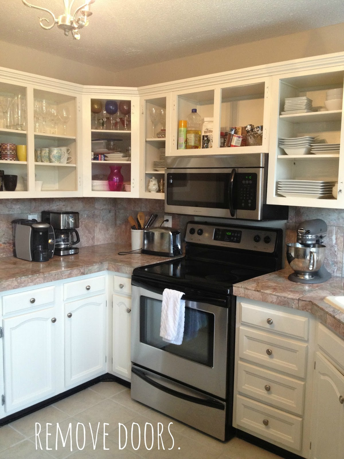Kitchen Cabinets Without Doors  newsdecor com