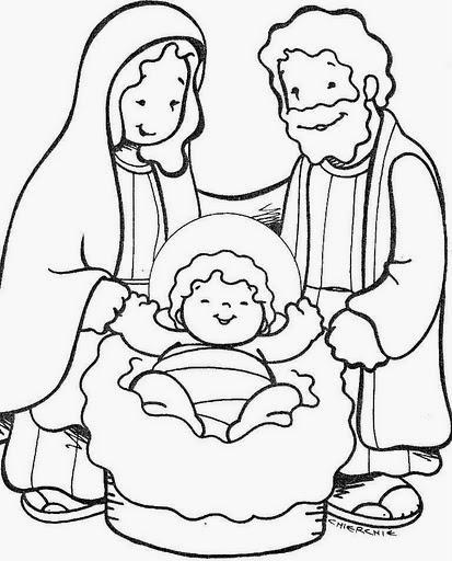 sagrada familia feliz nacimientos navideos para colorear parte 3