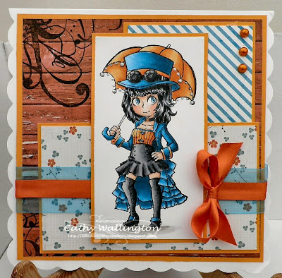 visible image stamps steampunk lady character stamp Clara