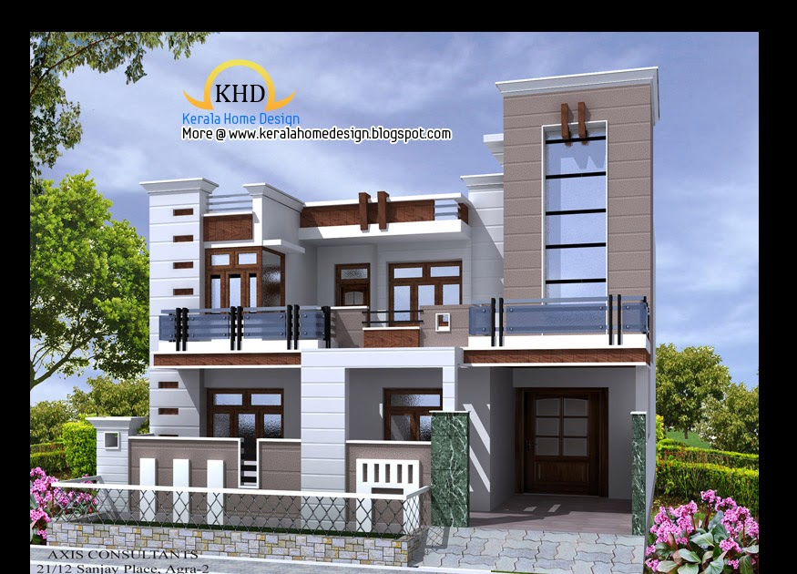 Home elevation design in 3d homedesignpictures for Design my home in 3d