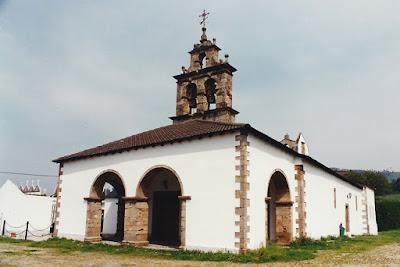 Iglesia de Santiago de Abres, abril de 1996