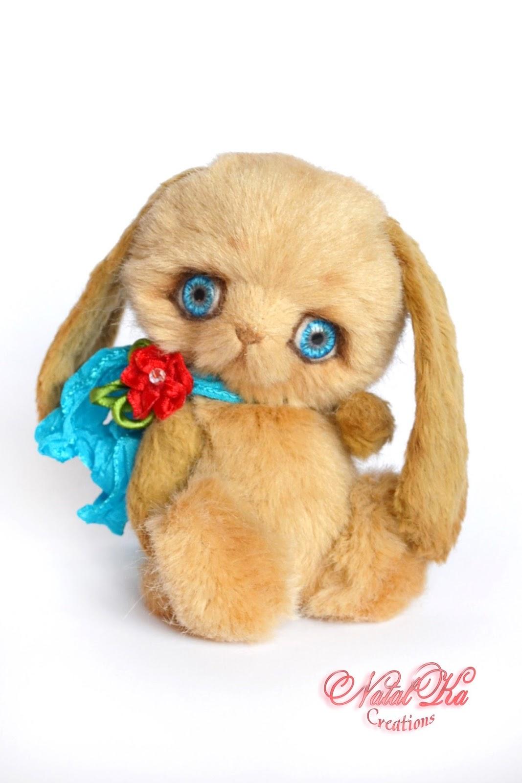 Авторский заяц тедди, тедди зайчик, кролик тедди, artist teddy bunny, teddy rabbir, artist bunny jointed, artist rabbit handmade, Künstlerhase, Künstlerteddy, Teddy Hase, Teddy Kaninchen, handmade by NatalKa Creations