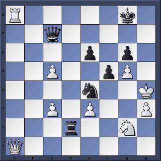 Echecs à Caen : la position après 40.Ta8+