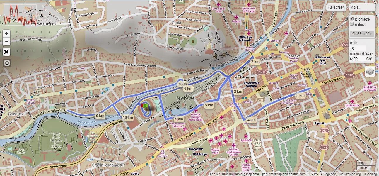 Invitaţie la Maratonul International Cluj, 19 aprilie 2015. Harta