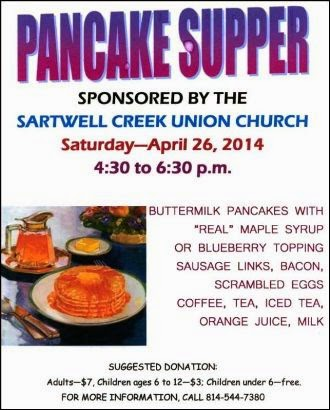 4-26 Sartwell Creek Pancake Supper
