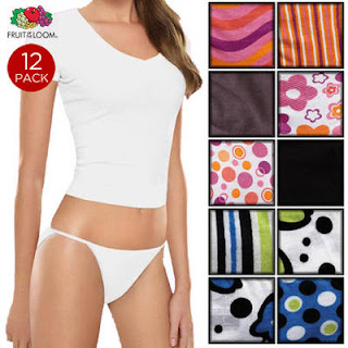 Tanga: 12 Pack Fruit Of The Loom Tagless Fashion Cotton String Bikinis Just $12.99 Shipped