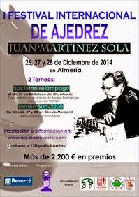 "I Festival Internacional de Ajedrez ""Juan Martínez Sola"""