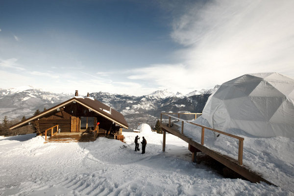 Whitepod alpine: swiss ski resort with private chalet rooms