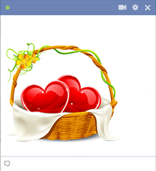 Basket of Hearts for Facebook