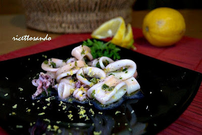Fresco di calamari limone e zenzero ricetta piatti  di pesce