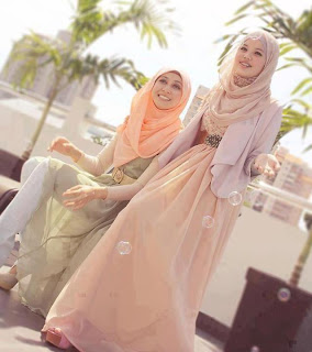 young sisters in hijab
