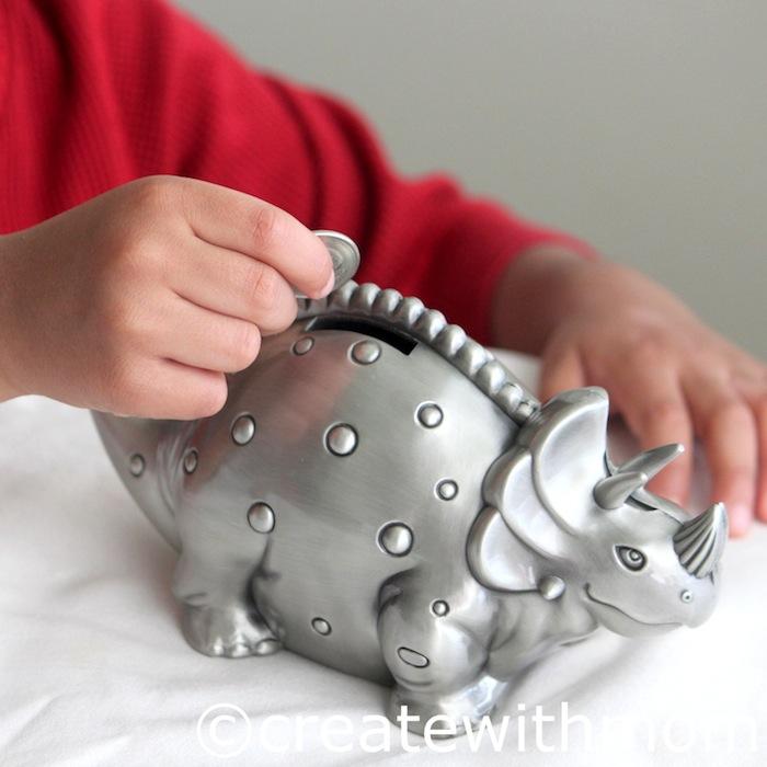 Create with mom dinosaur coin bank and pullover pajama set - Dinosaur piggy banks ...